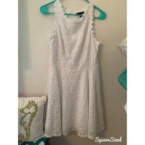 GUC Juniors White Lace Dress